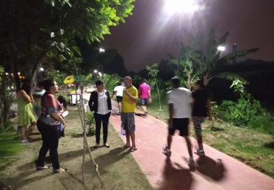 Vereadora Rita de Cássia comemora iluminação pública em ciclovia de Taboão da Serra
