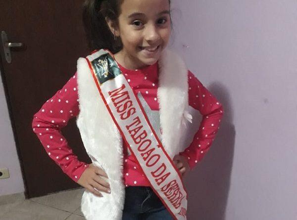 Moradora de nove anos do Jd. Maria Rosa é eleita Miss Taboão da Serra