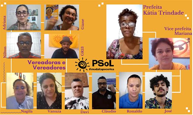 PSOL itapecericano oficializa Kátia Trindade e Profª Mariana como candidatas á prefeitura