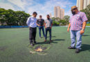 Prefeito Aprígio visita Estádio Municipal e Parque Lineares