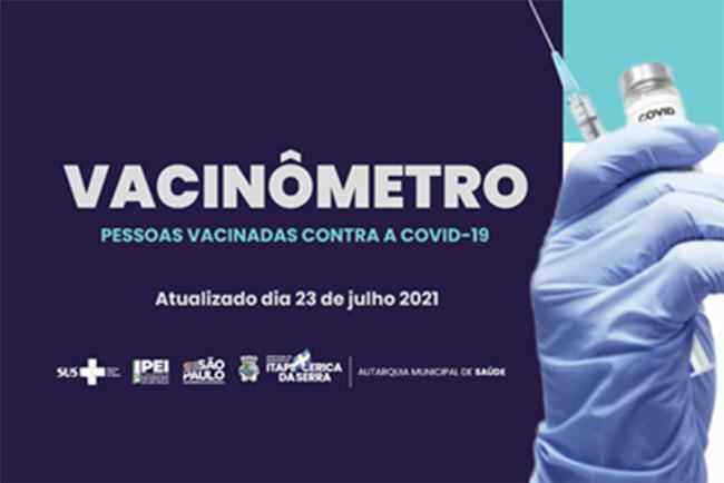 Itapecerica da Serra atingiu o maior percentual de vacinas aplicadas em primeira dose, entre os municípios da região